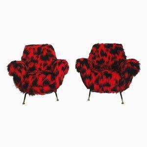 Lounge Chairs by Gigi Radice for Minotti, 1950s, Set of 2