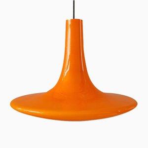 Grande Lampe à Suspension Vintage en Verre par Peill & Putzler