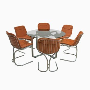 Table & Chairs Set by Gastone Rinaldi for Rima, 1970s
