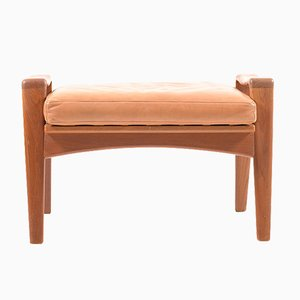 Teak Footstool by Arne Wahl Iversen for Komfort, 1960s