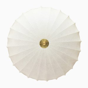 Große Mid-Century Cocoon Deckenlampe, 1950er