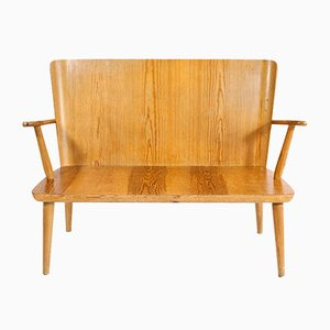 Mid-Century Swedish Elm Bench, 1950s