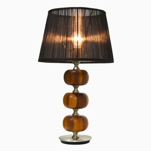 Mid-Century Wooden Table Lamp by Henrik Blomqvist for Tranås Stilarmatur
