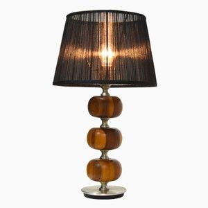 Mid-Century Wooden Table Lamp by Henrik Blomqvist for Tranås Stilarmatur