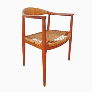 Mid-Century JH 501 The Chair by Hans J Wegner for Johannes Hansen