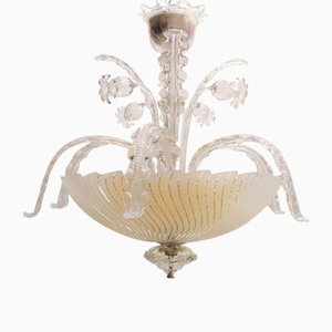 Chandelier from Orrefors, 1940s