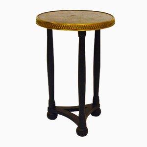 Tisch mit Platte aus Kupfer & Messing, 1930er