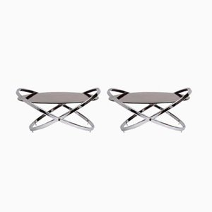 Vintage Jet Star Coffee Tables by Roger Lecal, Set of 2