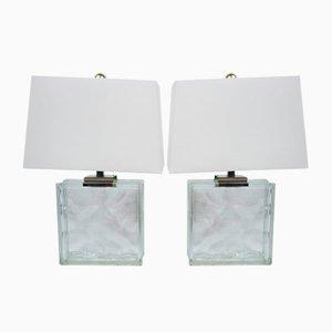 Vintage Block Lampen von Raymor, 2er Set