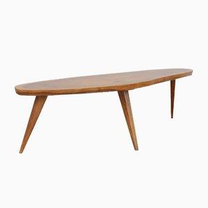 Tavolino da caffè Mid-Century in legno di noce massiccio