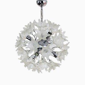 Lámpara de araña vintage de cristal de Murano de Paolo Venini para VeArt