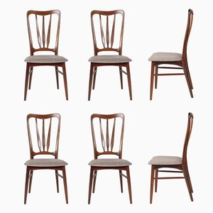 Ingrid Chairs in Rio Rosewood by Niels Koefoed, 1960s, Set of 6