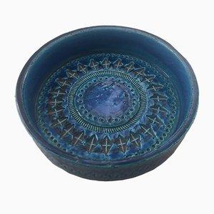 Cuenco italiano de cerámica de Aldo Londi para Bitossi, años 60