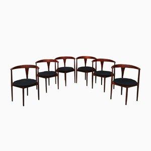 Armlehnstühle von Vilhelm Wohlert für Poul Jeppesens Møbelfabrik, 1960er, 6er Set
