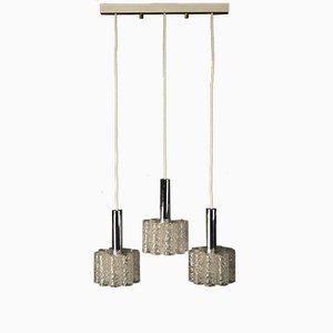 Lampada da soffitto vintage con tre luci di Doria Leuchten