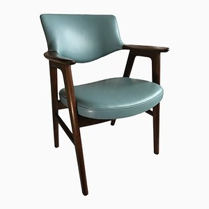 Armlehnstuhl aus Palisander und Leder von Erik Kirkegaard für Høng Stolefabrik, 1955