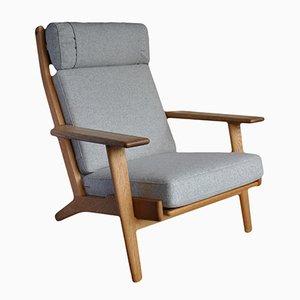 Modell GE 290 Sessel mit Hoher Rückenlehne von Hans J Wegner für Getama, 1950er