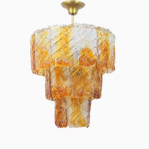 Lámpara de araña de cristal de Murano, años 60