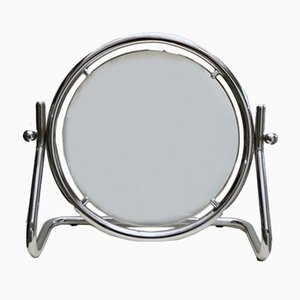 Large Round Table Mirror in Chrome, 1970s