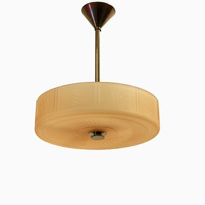 Swedish Ceiling Light from Orrefors, 1930s