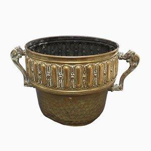 Antiker Französischer Behälter aus Messing von P.L.