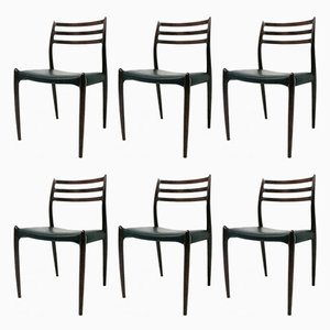 Vintage Rosewood Chairs by Niels O'Moller, Set of 6