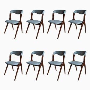 Chaises de Salon Mid-Century de Vamo Sonderborg, Set de 8