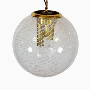 Murano Glass Spherical Pendant Lamp from Venini, 1960s
