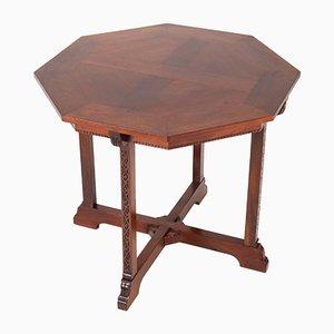 Niederländischer Mahagoni Arts & Crafts Tisch von Willem Haver für J.A.Huizinga, 1900er