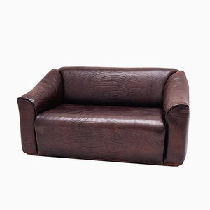 Chocolate Brown DS 47 2-Seater Sofa from de Sede, 1970s