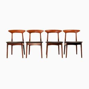 Sedie da pranzo in teak di Kurt Østervig per Brande Møbelindustri, anni '60, set di 4