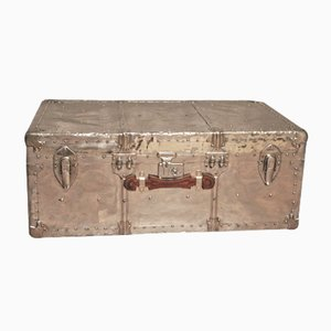 Polished Aluminum Steamer Trunk, 1940s