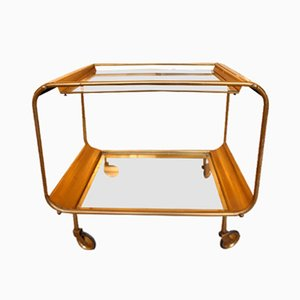 Vintage Brass Serving Trolley