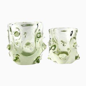 Kleine Vasen aus Muranoglas, 1970er, 2er Set