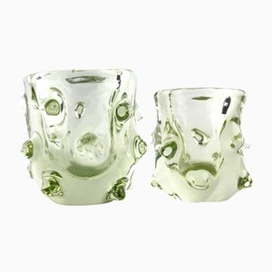 Small Murano Glass Vases, 1970s, Set of 2