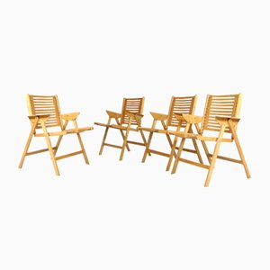 Rex Folding Chairs by Niko Kralj for Impakta Les, 1960s, Set of 4