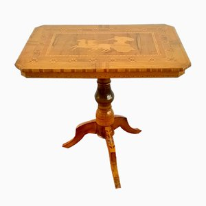 Table Basse en Noyer Incrusté de Sorrento, 1890s