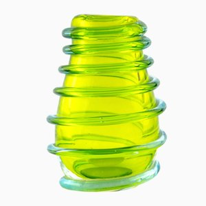 Green Murano Glass Vase, 1950s
