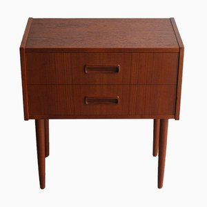Small Vintage Teak Bedside Table by Knud Erik