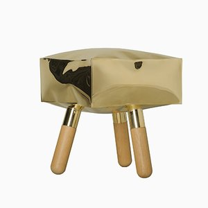 Icenine Brass Stool by Simone Fanciullacci & Antonio de Marco for Edizione Limitata