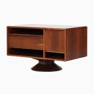 Rosewood Revolving Bar by Gianfranco Frattini for Bernini, 1958