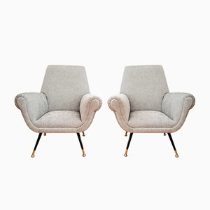 Italian Lounge Chairs by Gigi Radice for Minotti, 1950s, Set of 2