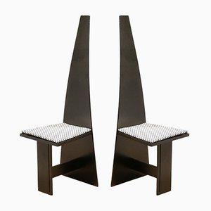 Chaises d'Entrée Cubiques Modernistes en Contreplaqué Peint, 1930s, Set de 2