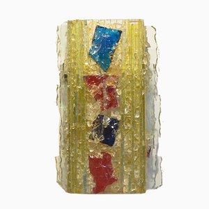 Niederländische Bunte Mid-Century Chartres Glas Wandlampe von Raak