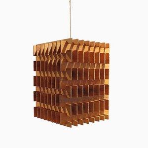 Lámpara de mesa o de techo de pino de Hans-Agne Jakobsson, años 60