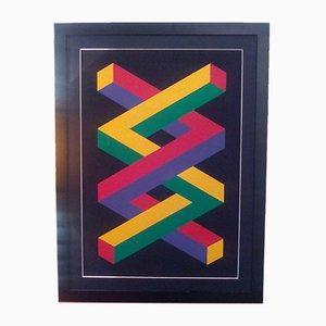 Serigrafia Geometries Impossible di Jose Maria Yturralde, 1988