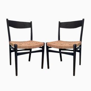 Chaises Vintage, Scandinavie, Set de 2