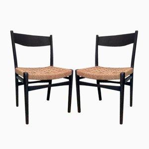 Skandinavische Vintage Stühle, 2er Set