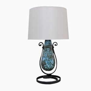 Lámpara de mesa de cerámica de Jacques Blin, años 50