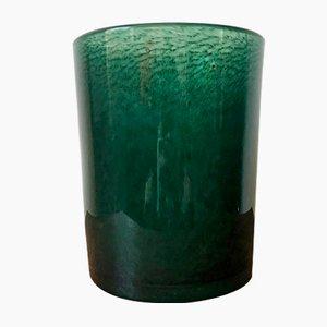 Vaso grande in vetro verde foresta con bolle di Ekenäs Glasbruk, anni '60